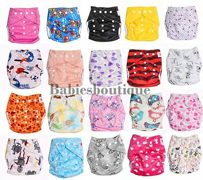 Reusable Washable Baby Cloth Nappy Cover Wrap One Size from Birth to Potty