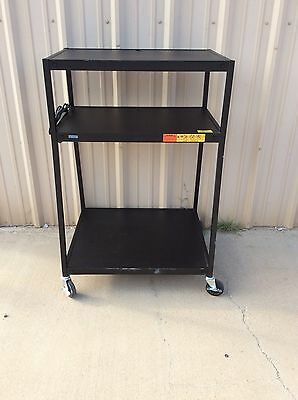 Bretford 3 Tier Commercial Media Cart With Power Strip