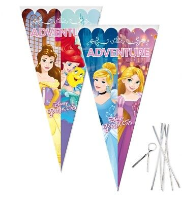 Disney Princess Large Sweet Cello Cone Loot Bags Birthday Party with Twist Ties
