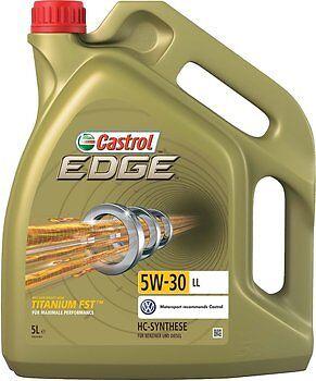 Castrol Edge 5w30 Fully Synthetic Engine Oil 5L - VW, GM & Longlife (5 Litre)