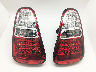 SMOKE LED TAIL LIGHTS Rear Lamps W/reverse Fits 04-06 MINI COOPER R50 R52 R53