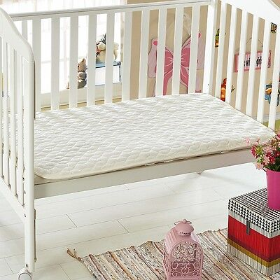 NEW Breathable Premium Cotton Quilted Standard Cot Mattress Protector 70x120cm