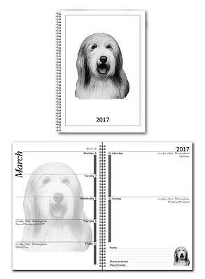 Bearded Collie Small 2017 Dog Show Diary with Championship Show Dates
