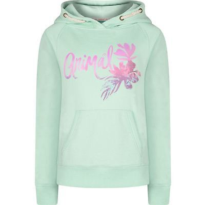 Animal Ombre Palm Girls Overhead Hoodie