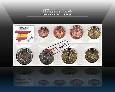 SPAIN complete EURO SET - 8 coins SET 2016 (1 cent - 2 Euro) UNC from Rolls