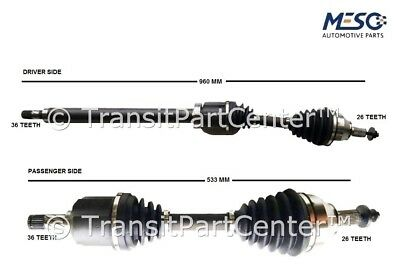 A Pair Of Driveshaft Ford Focus Mkii Mk2 2.5 St 2005 Onwards Right & Left