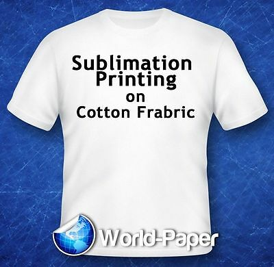 Sublimation Printing on Cotton T-Shirts Light Fabric Press *YL* 8.5x11 75Pk :)