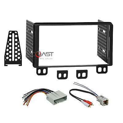 Car Radio Stereo 2 Din Dash Kit Wire Harness for 2003-06 Ford Lincoln Mercury