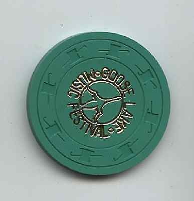 1970 Goose Lake Green Token / Ticket Bob Seger  Rod Stewart, Grande Era