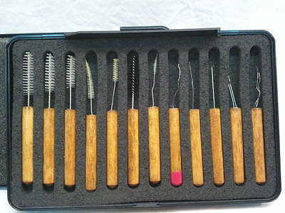 Cleaning Tools  Set PICKS LOOPS BRUSHES EAR CARE preowned Nelson Tools