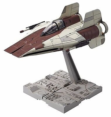 New Bandai Star Wars A-wing starfighter 1/72 scale Plastic Model Kit F/S