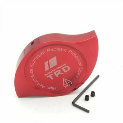 NEW JDM CNC Aluminum TRD Car Radiator Protection Cap Cover RED  camry, corolla