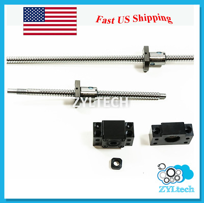 Zyltech Antibacklash Ball Screw 12mm 1204 w/ Ballnut & BF/BK10 End Support L=400
