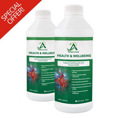 Arborvitae Health and Wellbeing Natural Supplement (2x1L) - Special Offer