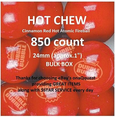 850 DUBBLE BUBBLE HOT CINNAMON Gum atomic vending candy fireball gumballs double