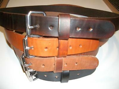 """Heavy Duty S.s Buckle Real Leather Work Belt Tool Holster Hand Made 1.1/2"""" Wide"""