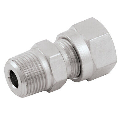 """2018-8124, 1/2""""   OD X 3/8"""" BSPT MALE STUD COUPLING, Betabite Imperial Compressi"""