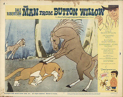 The Man from Button Willow 1965 Original Movie Poster Adventure Animation