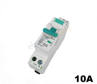 Safety Switch Circuit Breaker Combination RCBO Single Module 10 Amp 4.5kA Rated
