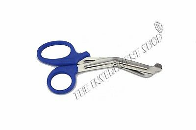 2 Nursing Utility Scissors Tuff Cut Bandage Tuarma Medical EMT First Aid Blue