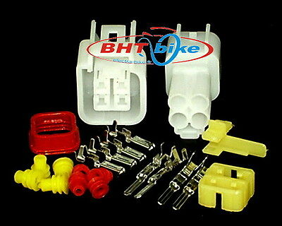 1 KIT CONNECTOR WATERPROOF 4 PIN MT Sealed M+F Automotive Motorcycle wiring
