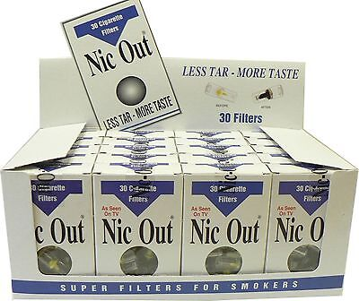 Nic-Out Cigarette Filters 20 Packs 600 filters NICOUT Cut the Tar, FREE SHIPPING