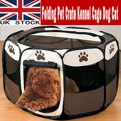 Pet Tent Folding Fence Playpen Kennel Puppy Dog Cat Run Cage Exercise Soft Crate