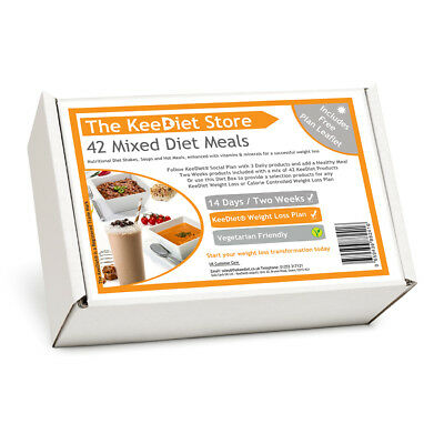 KeeDiet® - VLCD 42 Mixed Flavour Meal Replacement Diet Shakes Soups, Meals SP02