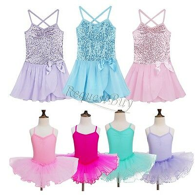 NEW Girls Kids Tutu Ballet Leotard Dance Dress Ballerina Fairy Dancewear Costume