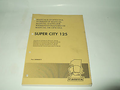 Manuale D'officina Variante Cagiva Super City 125