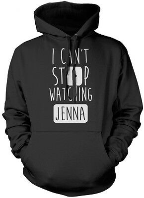 I Can't Stop Watching Jenna - Vlogger Star Youtuber Kids Hoodie Many Colours