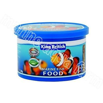 KING BRITISH MARINE FISH FOOD 28g, FLAKE & FD SHRIMPS MIX, REEF AQUARIUM CORAL