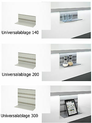 Kesseböhmer LINERO MosaiQ Universal shelf titan grey Rail system Kitchen rail