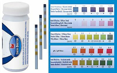 Pool & Spa 5-in-1 Test Strips for Chlorine PH Alkalinity Hardness - 58247