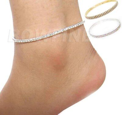 Stretchy Anklet Ankle Foot chain Crystal Diamante Festival/Party/Bollywood Payal