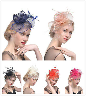 Ladies Girls BIG Large HATINATOR Sinamay Fascinator Hair Wedding Party