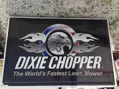 Dixie Chopper two sided lighted sign