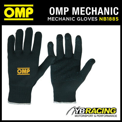 NB/1885 OMP RACING TECHNICAL SHORT GLOVES for MECHANIC PIT CREW GARAGE S-XL OMP