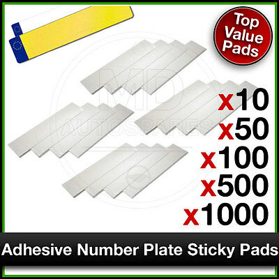 Car Number Reg Plate STICKY PADS Heavy Duty ADHESIVE 10 / 50 / 100 / 500 / 1000