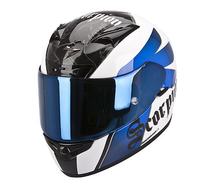 Casco Scorpion Exo 710 Air Knight Azul  +++ Talla M +++