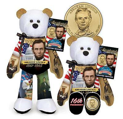 President Abraham Lincoln Coin bear #16 in series by Limited Treasures
