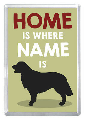 Golden Retriever Personalised Fridge Magnet. Great gift. Personalised any name
