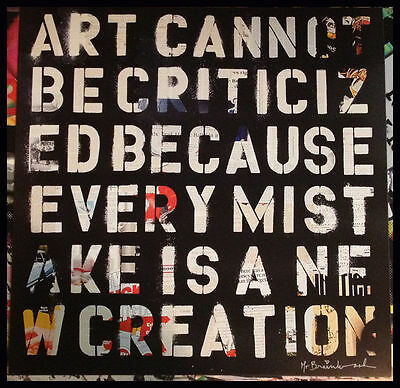 Mr. Brainwash Keep Creating Offset Lithograph 23x23 Poster Print Bansky Warhol
