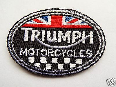 TRIUMPH MOTORCYCLES Embroidered Sew On Biker patch Motorcycle Chopper