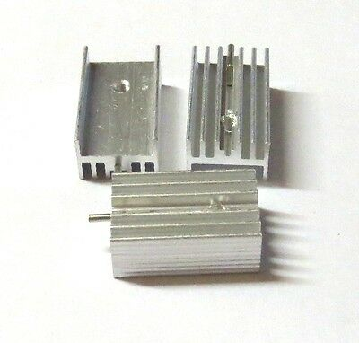 5pcs 21x15x10mm IC Aluminum Heat Sink With pin TO-220 For Transistors