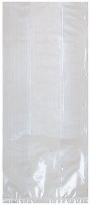 """Amscan Small Clear Cello Party Treat Favor Bags w/ Ties 25/pkg 4"""" x 9"""" 37640"""