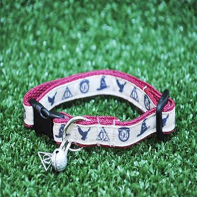 Wizard Owl Logo Harry Potter Inspired Cat Kitten Puppy Small Dog Collar