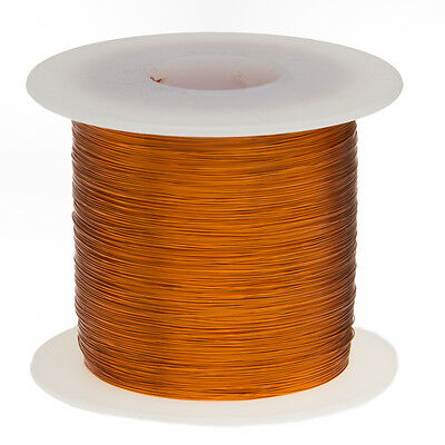 """44 AWG Gauge Enameled Copper Magnet Wire 1.0 lbs 79798' Length 0.0022"""" 200C Nat"""