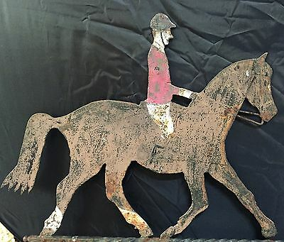 Primitive Horse & Rider Weathervane | Equestrian Art/Sculpture | Folk Art