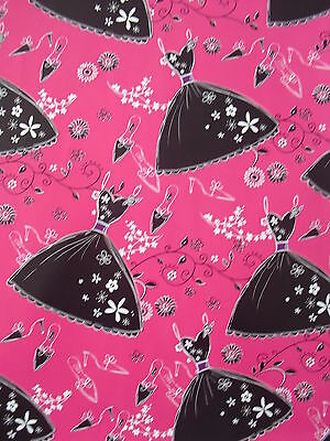 2 Sheets Of Good Quality Thick Glossy Female Wrapping Paper